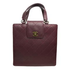 Chanel Burgundy Quilted Leather Flap Bag