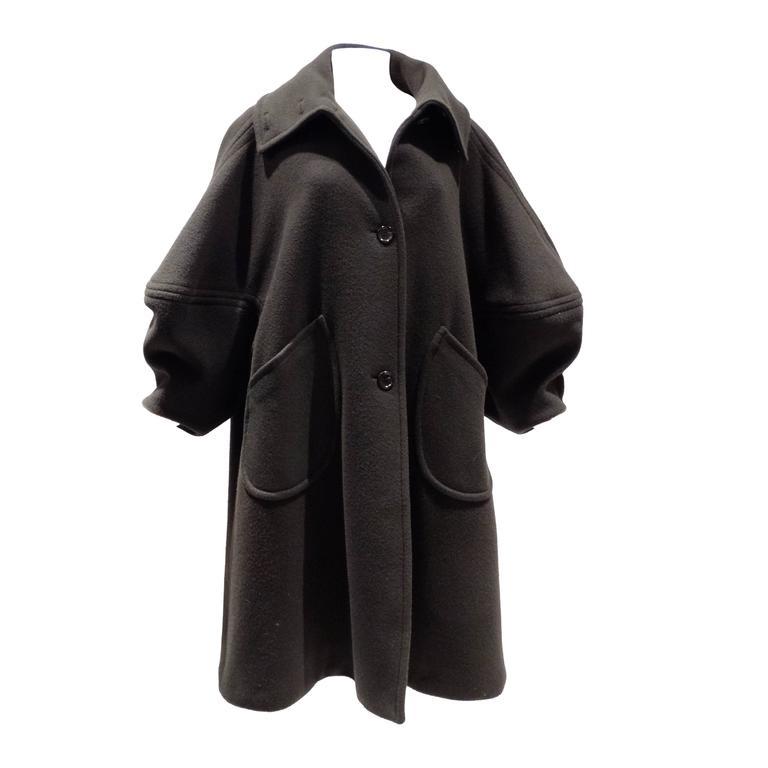 1990s Isaac Mizrahi Oversized Batwing Coat 1