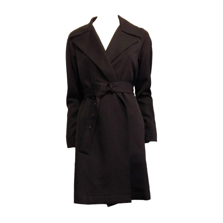 The Row Black Trench Coat 1