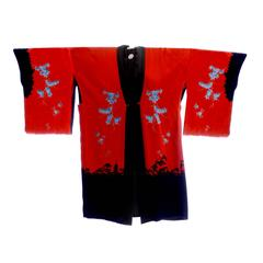 Silk Vintage Kimono Robe From Antique Asian Textile Collector