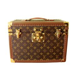 Louis Vuitton Monogram Leather Toiletry Case Boite Pharmacie + ID Tag + Keys