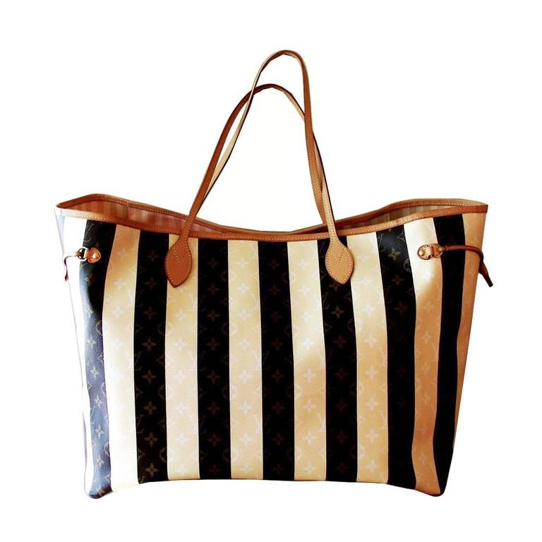 louis vuitton rayures monogram xxl neverfull tote travel bag vip limited edition at 1stdibs