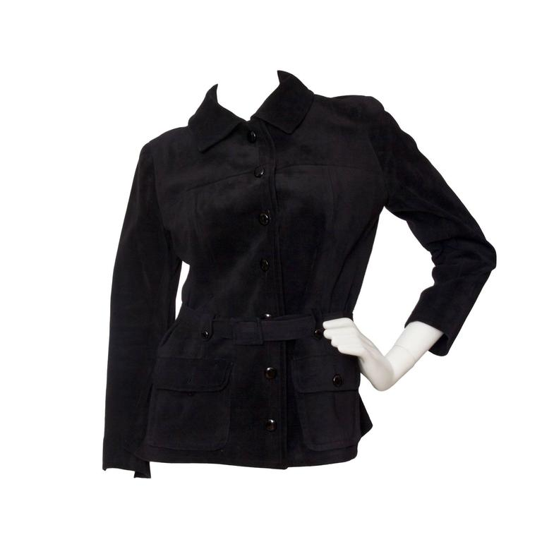 1970s Yves Saint Laurent Haute Couture Suede Jacket
