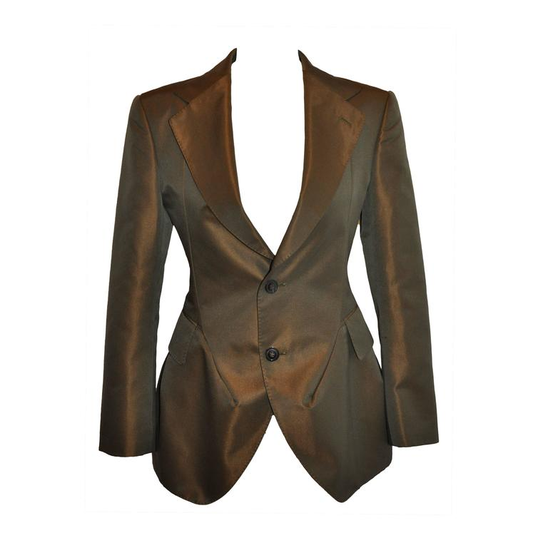 Junya Watanabe for Comme des Garcons Bronze Silk Deconstructed Blazer