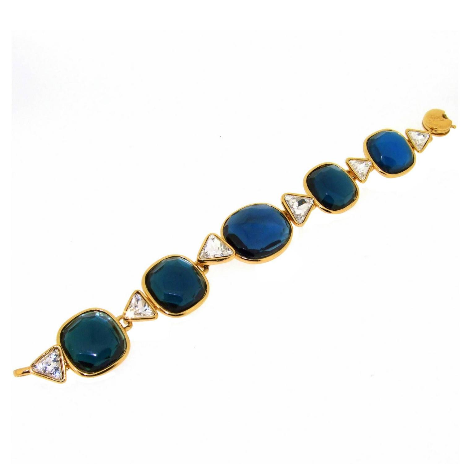 Yves saint laurent blue bracelet ysl for sale at 1stdibs - Bracelet yves saint laurent ...