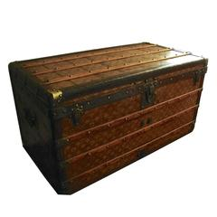 Louis Vuitton Monogram Haute Courier Large Steamer Trunk on Wheels 1900s
