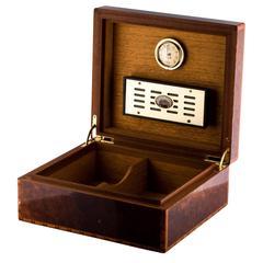 Hermes RARE Cognac Brown Lacquered H Logo Cigar Box Humidor