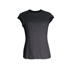 Gianni Versace Black and White Check T Shirt Cut Top, 1990s
