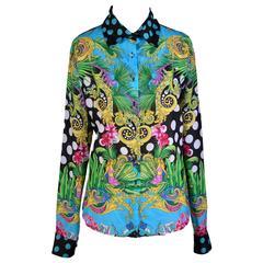 VERSACE Iconic print cotton silk blend Shirt