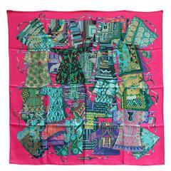 2009 Hermes « Voyage en étoffes » Square Silk Twill Scarf