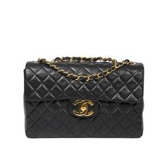 Maxi Jumbo Black Quilted Leather