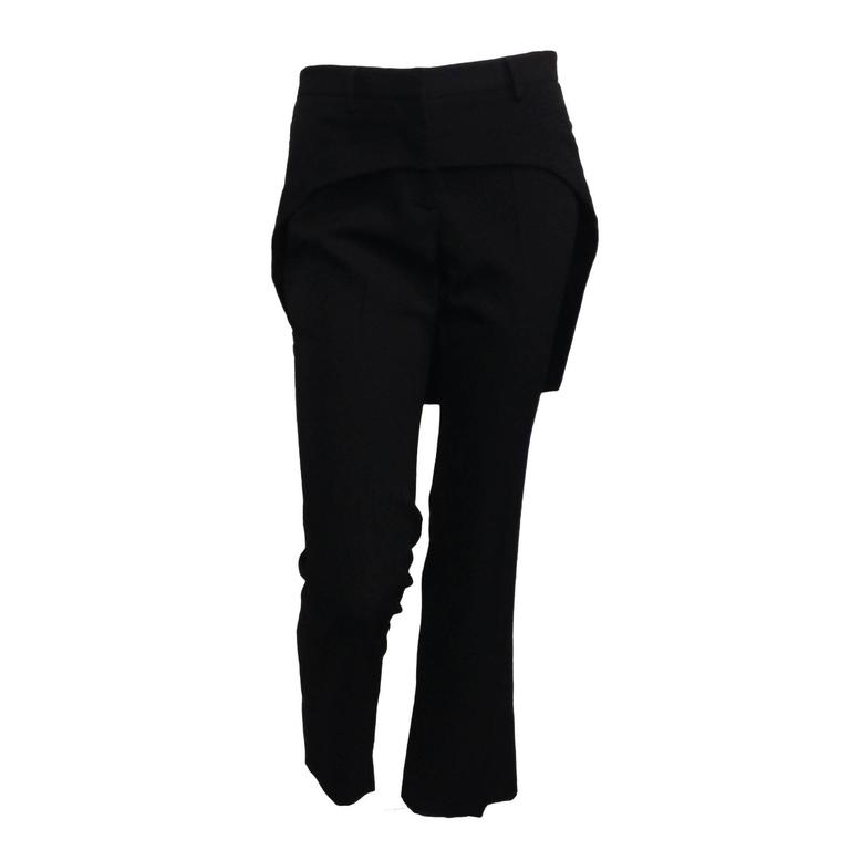 Givenchy Black Wool Pant with Tailcoat Hem