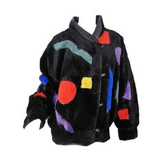 Krizia Multicolored Fur Coat, 1980s