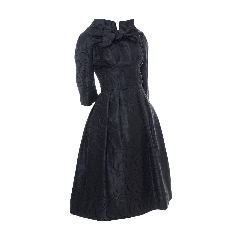 Werle Beverly Hills 1950\'s Vintage Dress Saks Fifth Avenue Black ...