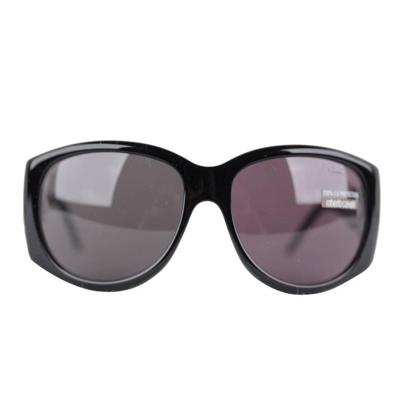 54623461f9 ROBERTO CAVALLI black gray sunglasses mod. CARITE 288S B5 59 15 130 eyewear  For Sale at 1stdibs