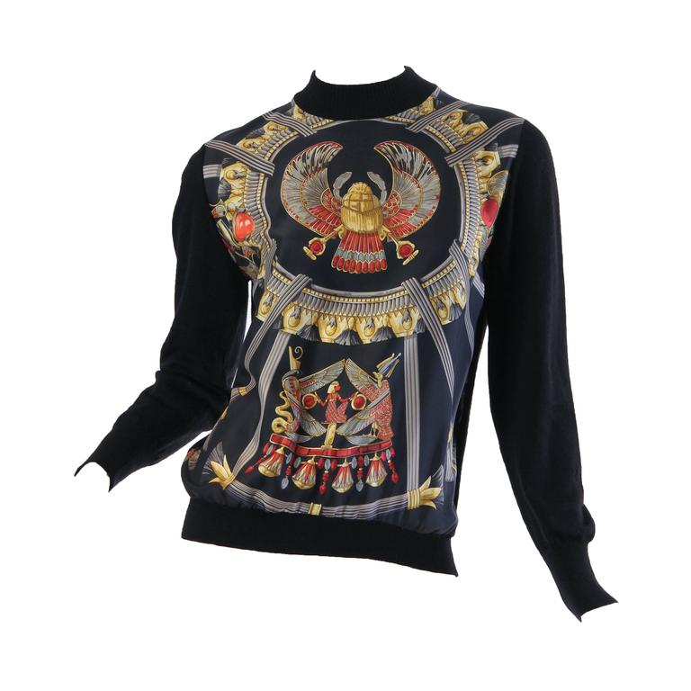 Hermes Egyptian Scarab Sweater