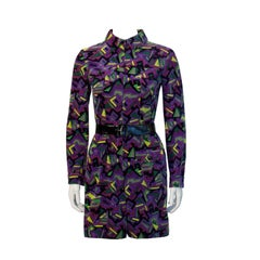 1960's Emilio Pucci Purple Velvet Romper with Belt