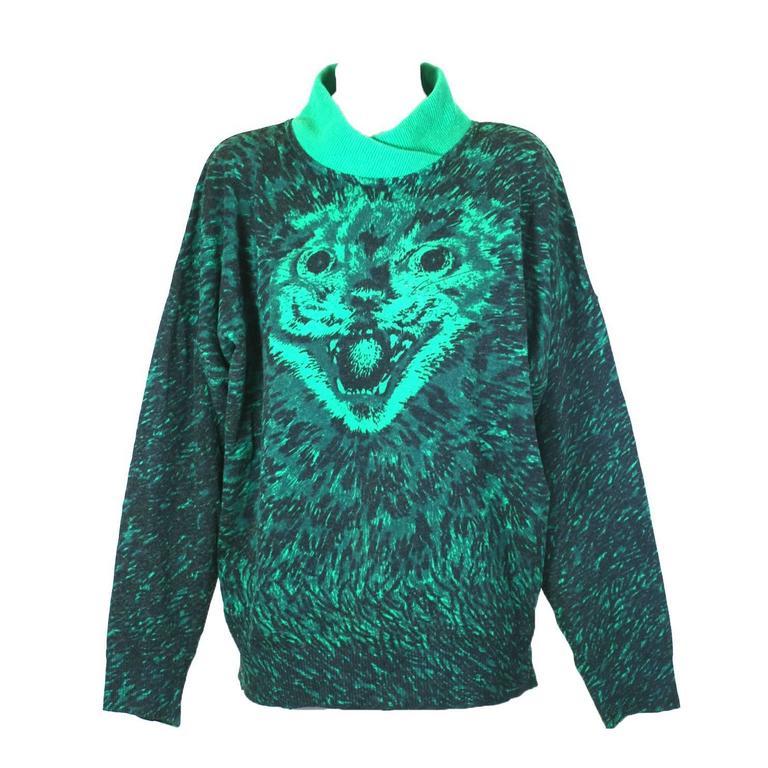 Krizia Scary Cat Sweater, Animal Series