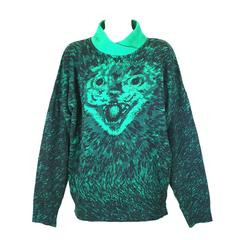 Krizia Scary Cat Sweater, Animal Series