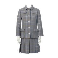 1960's Anonymous Windowpane Dress and Jacket Set