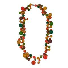 Bakelite Festive Summer Bead Necklace