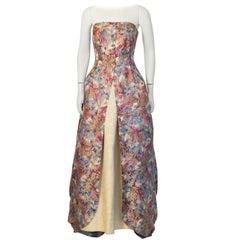 1950's Parisian Floral Ball Gown