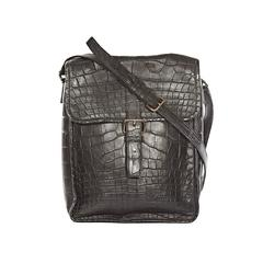 Prada Black Crocodile Crossbody Bag