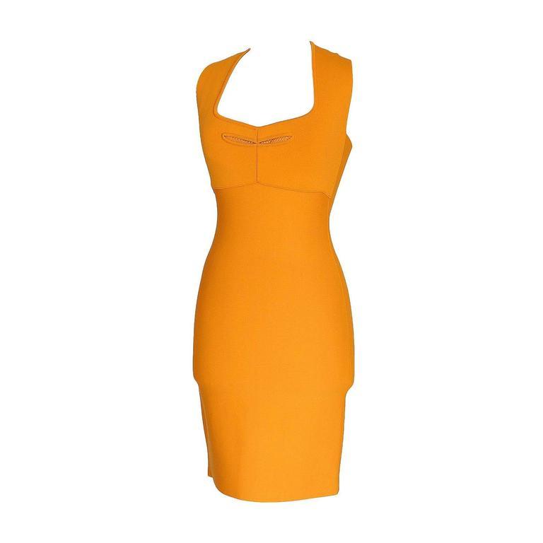 ROLAND MOURET Dress Golden Guinevere Bandage Dress 40 nwt