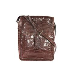 Prada Brown Crocodile Crossbody Bag