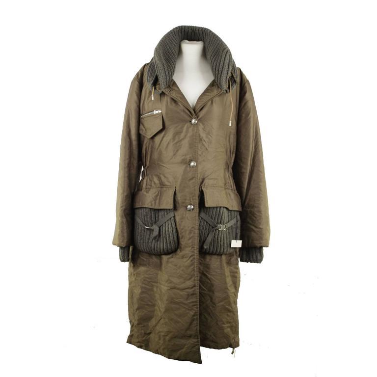 ERMANNO SCERVINO Italian Miltary Green PARKA Coat MID ...