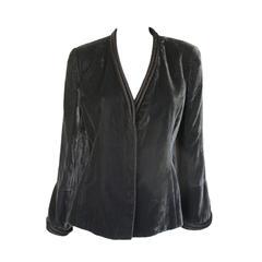 armani collezioni silver/grey velvet jacket