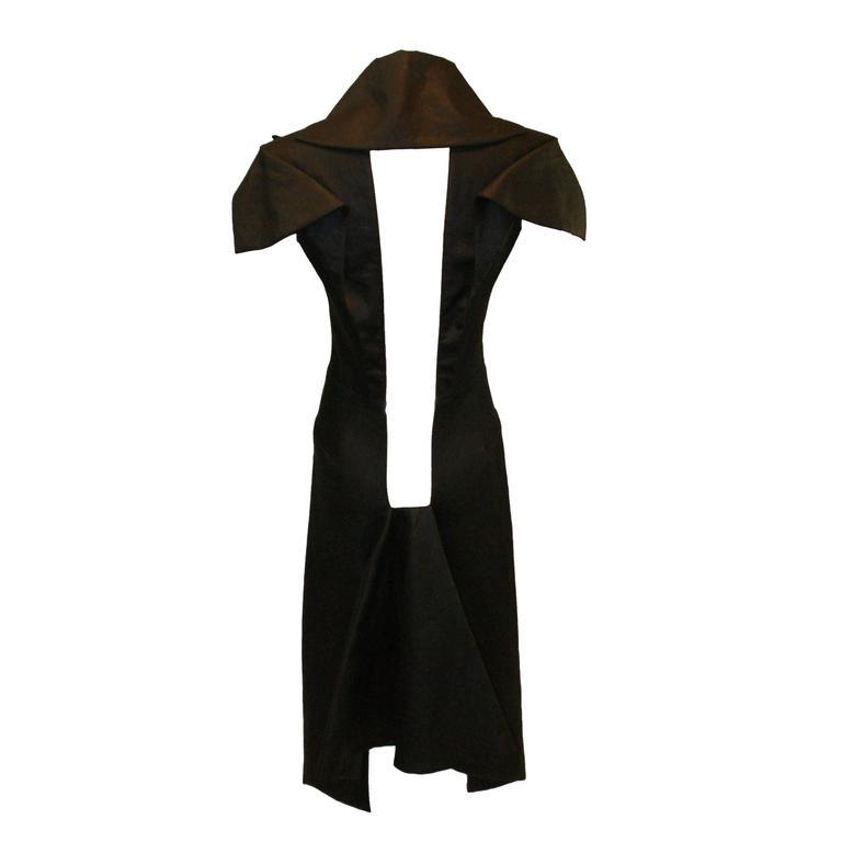 Alexander McQueen Museum Savage Beauty Untitled S/S 1999 Resin Black Coat Dress