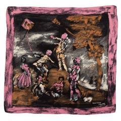 Jeanne Lanvin by Castillo Printed Silk Scarf