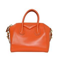 Givenchy Orange Leather Small Antigona Bag GHW