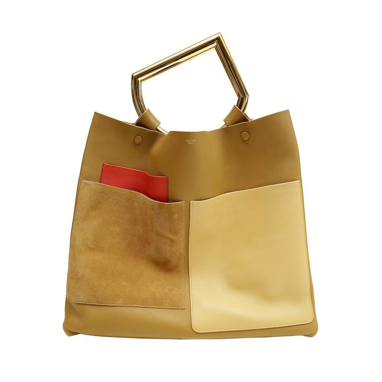 Celine Goldenrod Patch Pocket Runway Tote 1