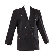 Yves Saint Laurent Rive Gauche Vintage Wool Boyfriend Blazer Jacket
