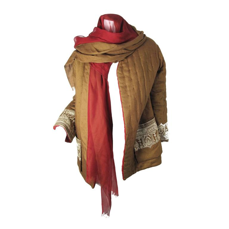 Amazing Gianfranco Ferre Reversible Coat with attached Scarf/ Head Scarf 1
