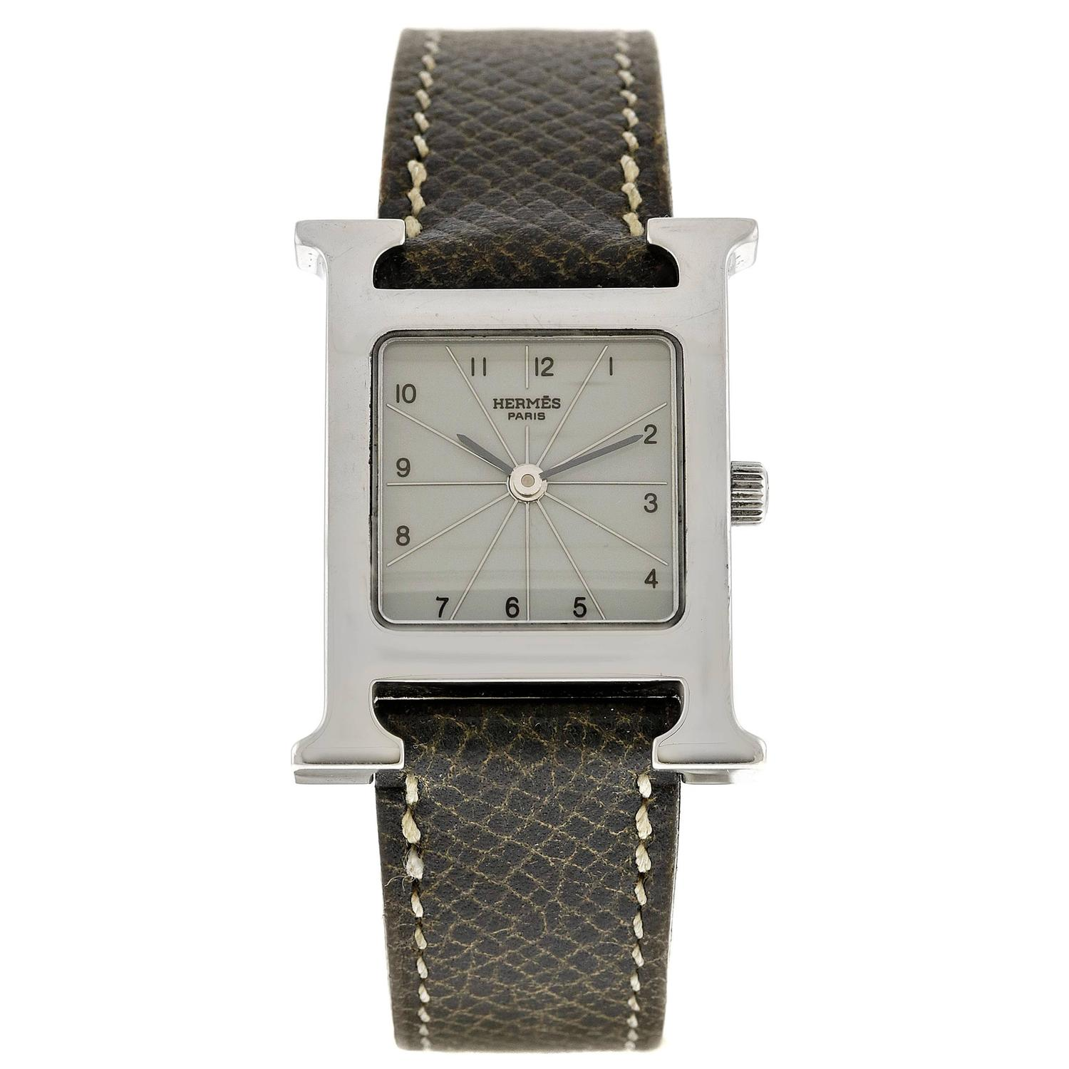 herm 232 s stainless steel h womens with leather