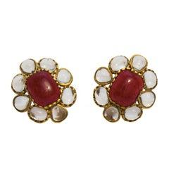 1994 Chanel Poured Glass Earrings