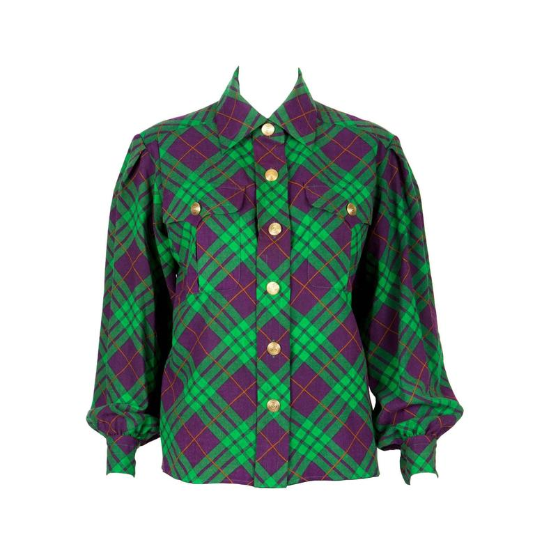 Gorgeous Iconic Saint Laurent Check Shirt Jacket