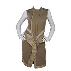 Givenchy Khaki Sleeveless Polo Dress