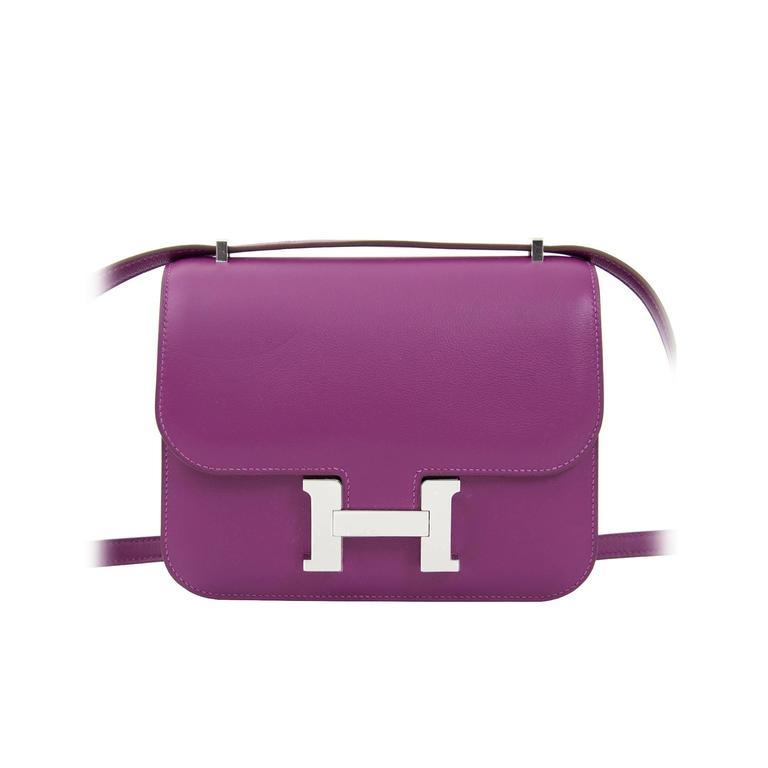 8dcf796e8674 Brand New Hermes Anemone Constance Mini Veau Swift PHW at 1stdibs