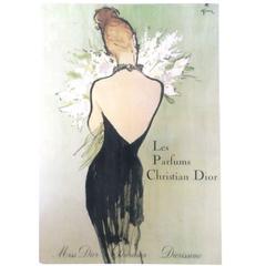 Christian Dior Vintage Ad Print - 1940's