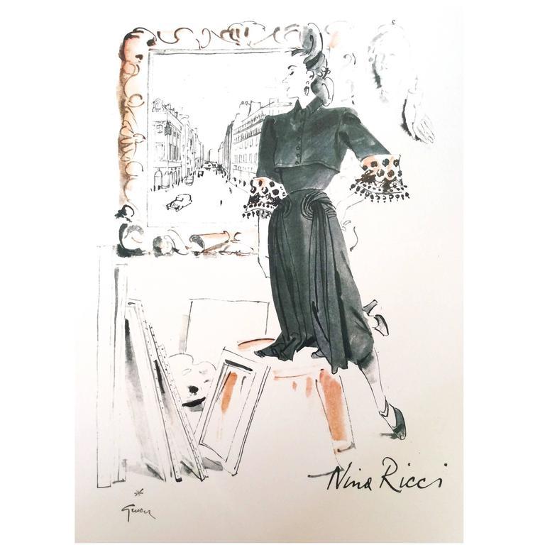 Vintage Nina Ricci Ad Print - 1960's - Rare 1
