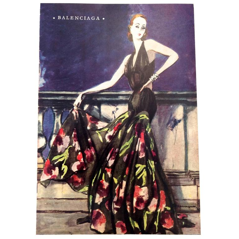 Balenciaga Vintage Ad Print - 1940's