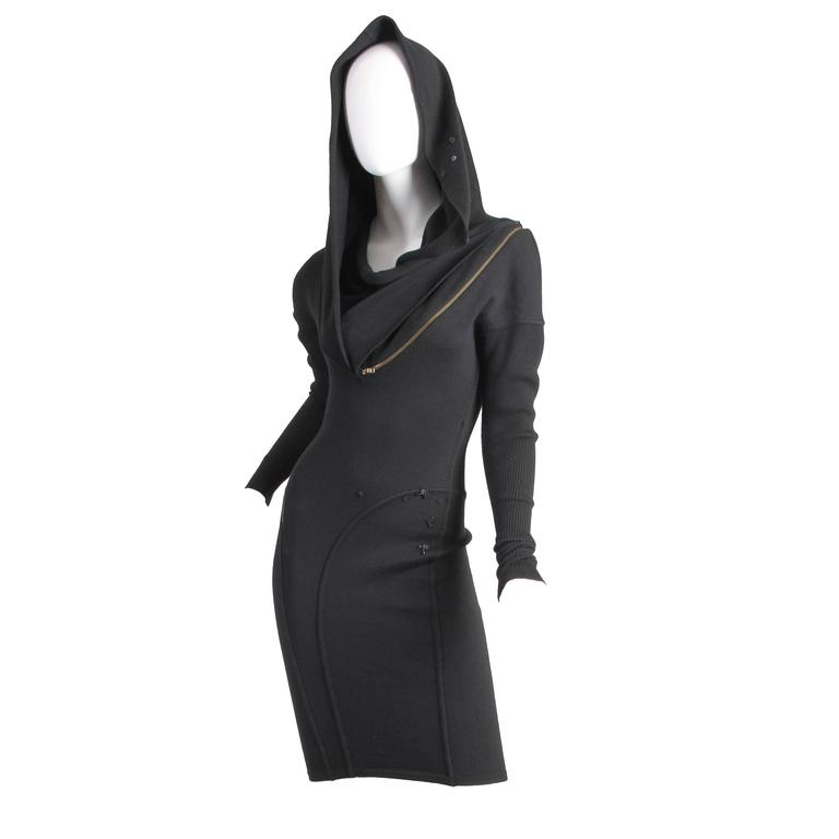 Alaia Hooded Body-Con Dress