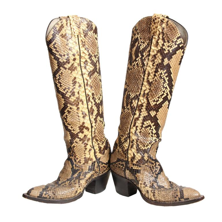 26024c11faf Tall Snakeskin Cowboy Boots from Larry Mahan
