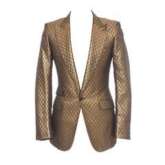 Burberry Men's Metallic Quilted Blazer