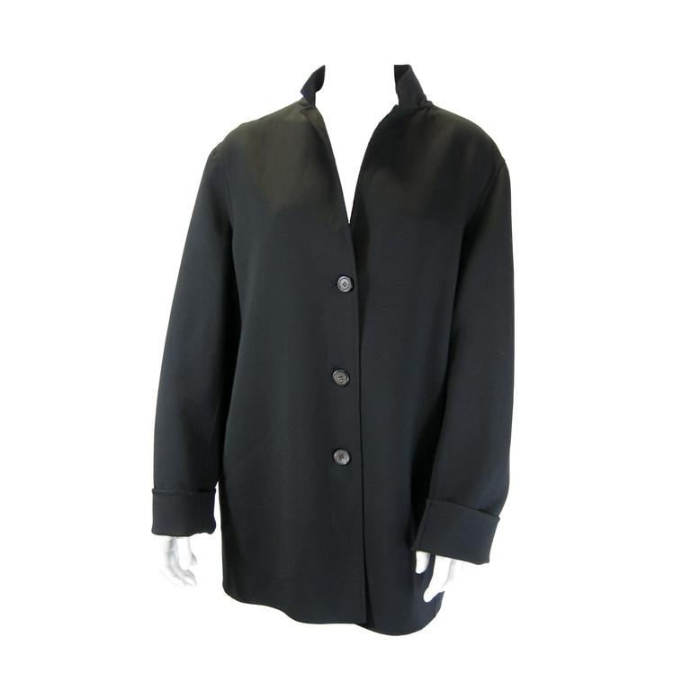 Jil Sander Black Wool Jacket For Sale