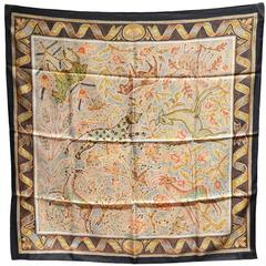 Rare Hermes Vintage Pavement Silk Scarf